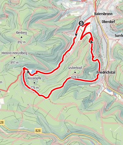 Map / Genießerpfad - Baiersbronner Sankenbachsteig